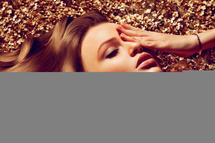 Efectos luminosos y oro, un must para tu maquillaje en fin de año